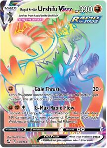 POKEMON TCG SS BATTLE STYLES : Rapid Strike Urshifu VMAX 169/163 RAINBOW RARE