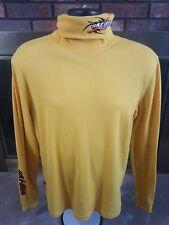 Vintage Ski-doo Snowmobile Racing Turtle Neck Mens Shirt Size Large Yellow