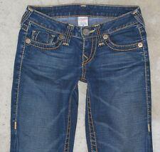 True Religion Womens Jeans Johnny Big T Straight Leg Sz 26 w Heritage Pocs