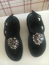 Ladies Fitflop Black & Silver Sandals size 3