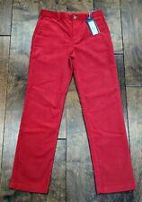 New listing Vineyard Vines Boy's Pants Slacks Size 16 Nwt Red Corduroy Breaker Pant