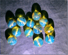 New listing Lot 12 Dominican Sky Blue Amber Sphere Round Beads drilled 8.5mm