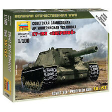 Zvezda 1/100 Soviet SU-152 Self Propelled Gun Z6182