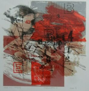 JOHN EAVES RWA B1929 PENCIL SIGNED UNIQUE ARTIST'S PROOF 'CONFIGURATION 2' 1974