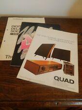 Three Vintage Audio User Manuals - Quad / Roland / Art