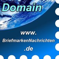 www.briefmarkennachrichten.de - Domain / Internet-Adresse / URL - Philatelie