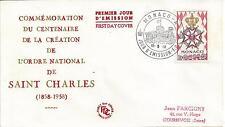 MONACO - ENVELOPPE 1er JOUR - FDC - N° 490 - ORDRE de ST CHARLES