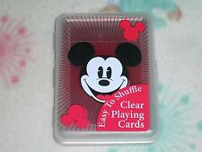 1 Deck Of Clear Plastic Mickey Mouse Playing Cards S1073545