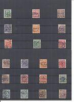 Oberschlesien 1920, aus Michelnrn: 1 - 20 Dienst o, gestempelt o, Einzelmarken