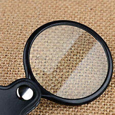 Pocket Mini 5X50mm Folding Jewelry Magnifier Magnifying Eye Glass Loupe Lens JS