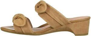 Taryn Rose Women's Nanette Heeled Sandal, Doe, Size 5.0