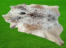 "New Cowhide Rugs Area Cow Skin Leather 28.88 sq.feet (66""x63"") Cow hide U-6285"