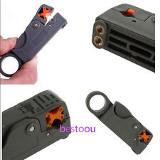 Grey Rotary Coaxial Cable Stripper Cutter Wire Stripping Tool For RG59/6/58 GA