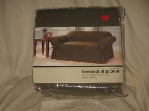 "Loveseat Slipcover Maiden Green 58""-73"" Target 2004 100% Cotton - NEW"