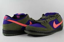 Nike Dunk Low Pro SB Medium Olive Green Atomic Red Electric Purple Size 11