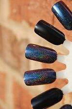 Multichrome Holographic Spectraflair Sparkle Topcoat ~ 15 ml.  Cyan/Purple