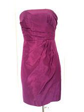 J CREW Purple Silk Taffeta Strapless Cocktail Bridesmaid Dress Sz 2 L664