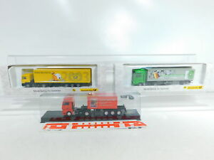 BX355-0, 5 # 3x AWM 1:87 / H0 Camión Man: 006272+006777 + Trailer-Journal, Mint+