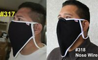 317-318 Nose Wire BEARD Bigandtall XXL Face Mask Cover Made USA Respirator Clear