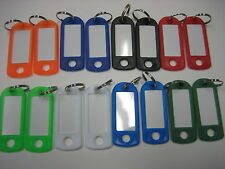 Lot of 16 Key ID Labels Tags with Key Ring Split Rings