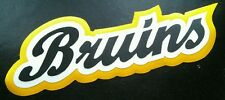 "HUGE BOSTON BRUINS IRON-ON PATCH - 4"" x 10"""
