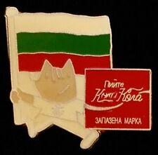 Mascot Cobi with flag ~Olympic Pin Badge~Bulgaria~1992 Barcelona~ Coca-Cola
