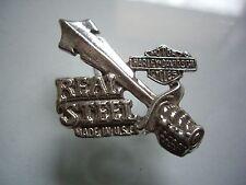 Vintage Harley Davidson Real Steal Sword Motorcycle Pin Factory Badge Dealership