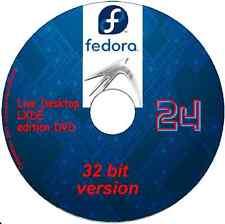 Fedora 25 Desktop Lxde 32 bit Linux on DVD + software