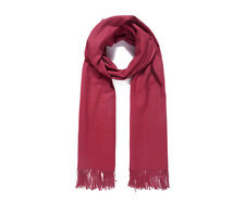 Ladies Women Fable Wine Soft Long Plain Scarf Wrap Shawl Pashmina UK