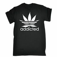 Funny T Shirts Addicted T-SHIRT tee humour joke birthday gift present for him