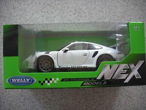 NEX WELLY 1;24 DIE CAST MODEL CAR PORSCHE 911 GT3 RS WHITE BOXED