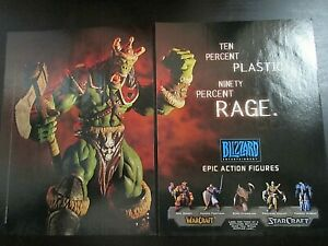 Warcraft Blizzard Action Figures 2-Page 1998 Ad Print Artwork Authentic Promo