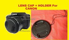 LENS CAP  DIRECTLY to CAMERA CANON POWERSHOT SX-50HS SX50HS SX50 HS + HOLDER