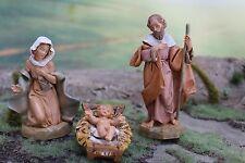 """5"""" Fontanini Italian Nativity HOLY FAMILY SET - Depose Italy Figures - NICE!!"""