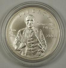 2004 Thomas Edison Commem UNC Silver Dollar Coin w/ Box & COA NO OUTER SLEEVE