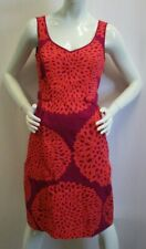 BODEN Women's Pink & Orange Sleeveless Knee Length Sun Dress - 4L