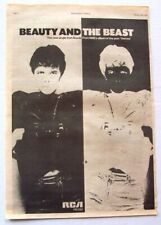 David Bowie 1978 original Poster Advert Beauty And The Beast Heroes
