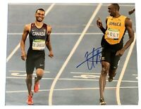 USAIN BOLT Original Signed Autographed 11X14 OLYMPICS Photo COA Authentic 04