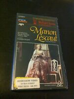 Manon Lescaut VHS by Giacomo Puccini feat. Placido Domingo Royal Opera House