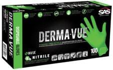 Sas Safety 66552 Derma-vue Large Nitrile Neon Green 6 Mil Gloves