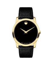 Movado Museum Classic 0607014 Black Leather Analog Swiss Quartz Men's Watch