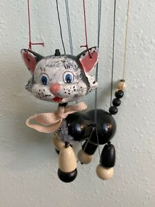 Vintage Pelham Marionette String Puppet  CAT  Original Box