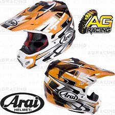 Arai 2014 MXV MX-V Helmet Tip Orange White Adult Medium MED M Enduro Helmet