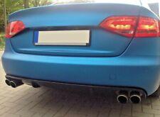 Audi A4 8K B8 Diffusor Tuning Heckdiffusor Limo und Avant 4-Fach Auspuff