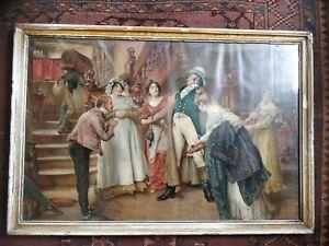 Original pears soap print by Edgar Bundy. 'A Hearty Welcome' circa 1903