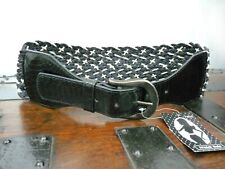 NEXT Black & White Wide Woven Waist Belt Size M Eur 3 New