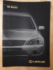 LEXUS IS200 orig 1998 1999 Czech Mkt Sales Brochure