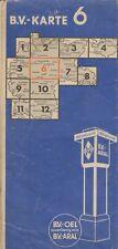 Aral Strassenkarte LandkarteStadtplänen BV Karte Deutschland Blatt 6 II/3 1937
