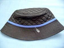 224d2b1cd7e36 Lands  End Hat New S M Black Bucket Primaloft Quilted Black Blue Trim Ladies
