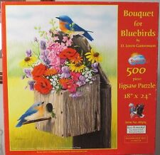 BOUQUET FOR BLUEBIRDS BY D. LOREN GUTTORMSON SUNSOUT PUZZLE